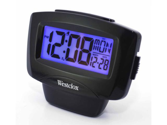 WESTCLOX 72020 Large Easy-To-Read LCD Alarm Clock with Day/Date