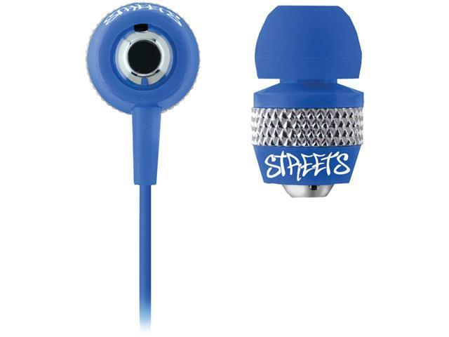COBY CVE55BLU URBAN STYLE NOISE-ISOLATION STEREO EARPHONES (BLUE)