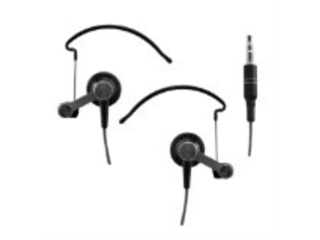 Sentry HO234 Sport Hooks Noise Reduction Metal Earbuds