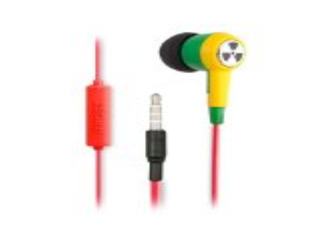 iFrogz Ozone Earbuds Green/Yellow In-Ear Headphones with Inline Microphone