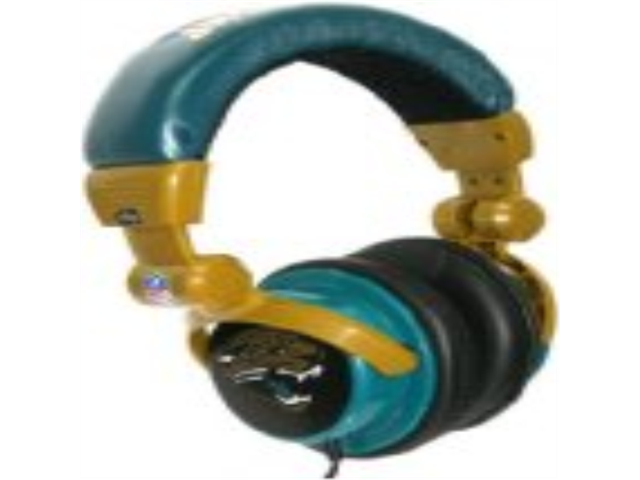 iHip NFH22JAJ NFL Jacksonville Jaguars DJ Style Headphones, Gold/Turquoise