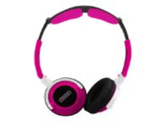 Sentry Head Art DJ Style Over The Head Headphones Pink - Sentry HO403