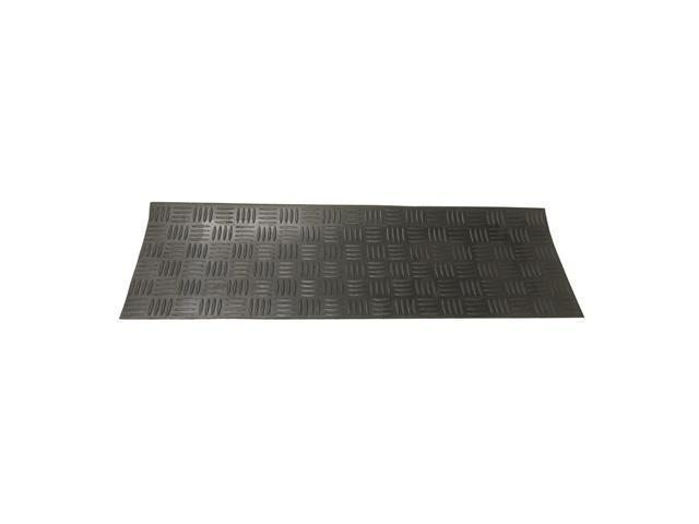Diamond-Grip Recycled Rubber Step Mat - 9.75
