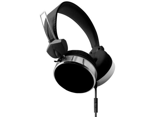 Hype Audio Stereo Eclipse Performance Headphones w/ Mic & Answer Control - Black