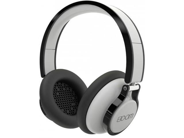 Boom ROGUE Premium Over-Ear Headphones w/ 3 Button Mic & 6ft Cord - White