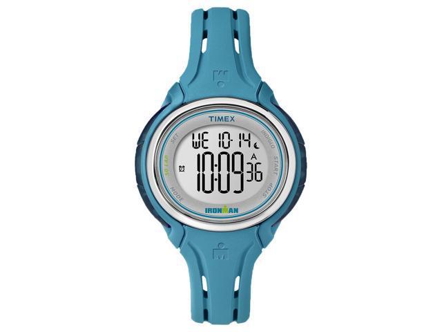 Timex Women's Ironman Sleek 50 Lap Multi-Function Digital Sports Watch - Blue