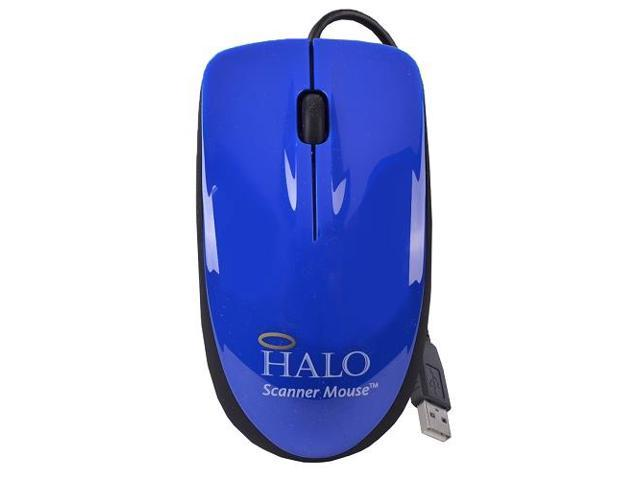 Halo Blue 3-Button USB Laser Scroll Mouse w/ Photo/Document Scanner