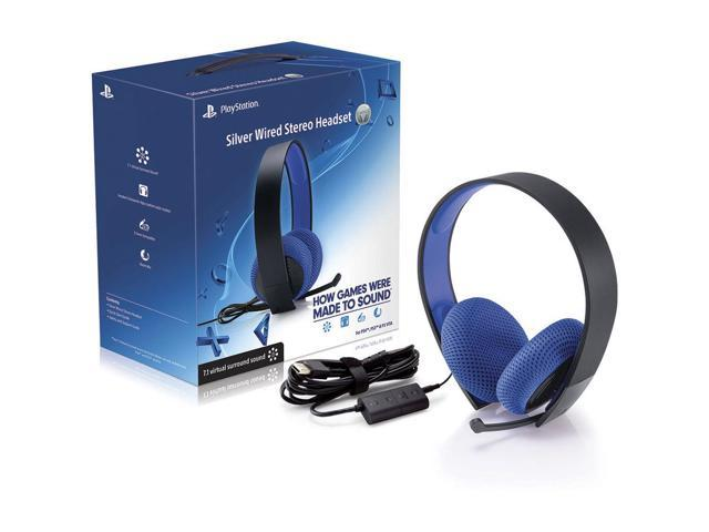 Sony PlayStation Silver 7.1 Virtual Surround Sound Wired Gaming Stereo Headset