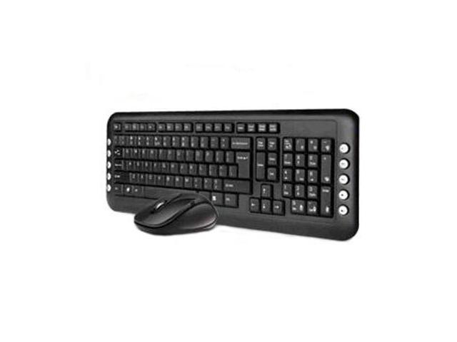 A4-Tech No-Lag Gaming 2.4Ghz Wireless Desktop Keyboard & Mouse Combo Set (GL-1630-G7)