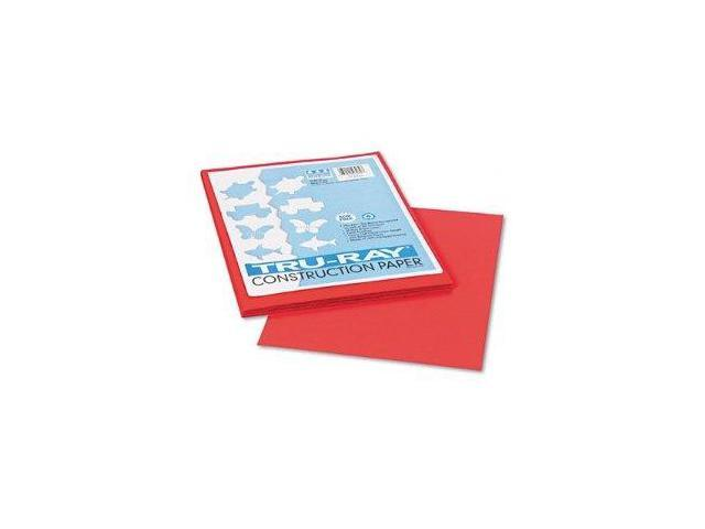 Pacon Tru-Ray Construction Paper, 76 lbs., 9 x 12, Red, 50 Sheets-Pack, PK - PAC103030