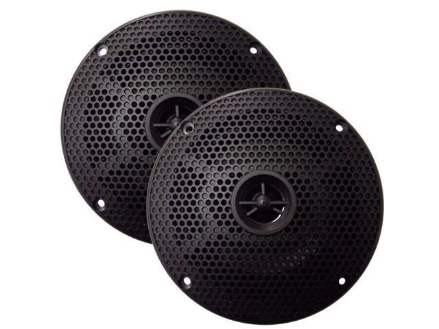 SeaWorthy SEA5632B 6- Round 2-Way Speakers - 100W - Black *Bulk Package*
