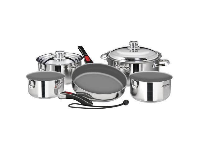 Magma 10-Piece Gourmet Nesting Cookware Set w/Ceramica Non-Stick