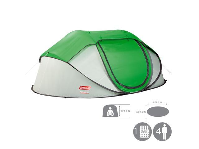 Coleman 2000014782 4 People Pop Up Tent, Green/Silver