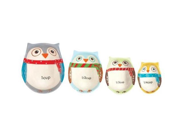 Boston Warehouse Snowy Owls Measuring Cup Set - Set of 4