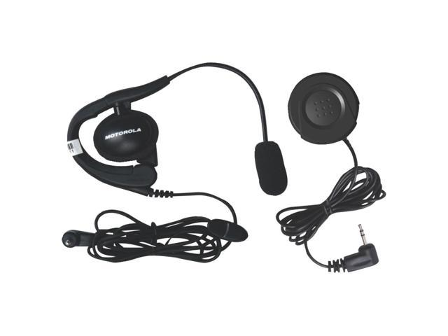 MOTOROLA 1884 Wired Headset with Boom Microphone & PTT Button Bundle
