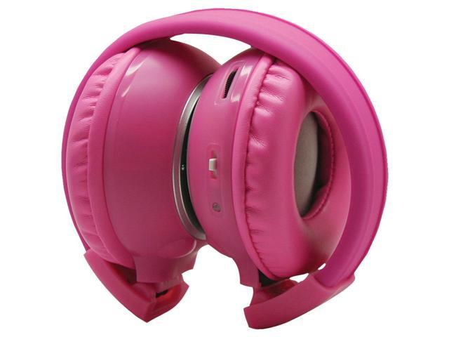 POWER ACOUSTIK Hp-K2P Dual-Channel Collapsible IR Headphones (Pink)
