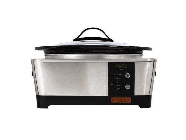 Crock Pot SCCPTP600-S 6 Quart Stainless Steel Oval Slow Cooker