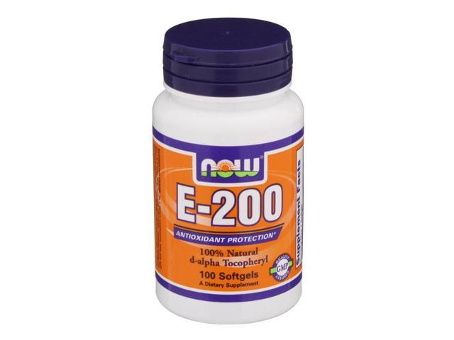 E-200 IU - Now Foods - 100 - Softgel