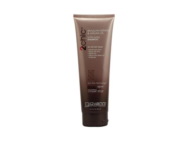 Giovanni 2chic Ultra-Sleek Shampoo with Brazilian Keratin and Argan Oil 8.5 fl oz
