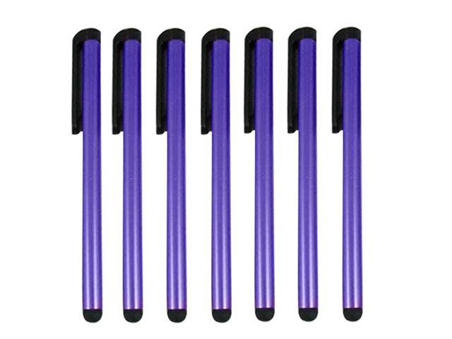 PURPLE Touch Screen Stylus Universal Capacitive for iPad iPhone iPod Tablets Smartphones - 7 Pcs