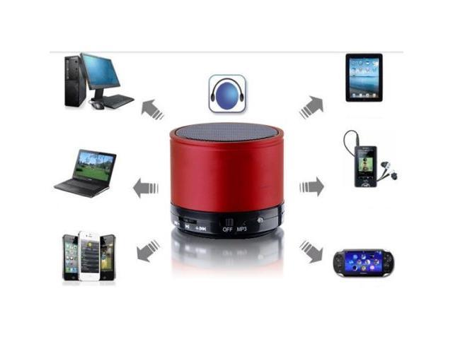 Bluetooth Speaker with TF Card Tray for Smartphones Tabs Cellphones with Charger + Audio Cable