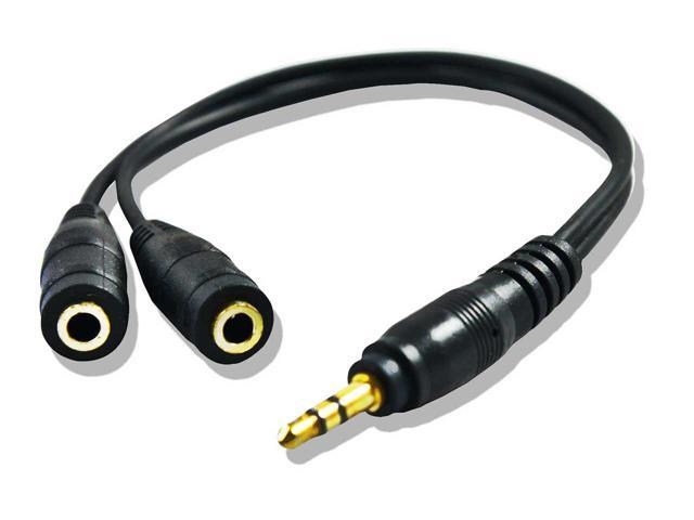 Audio Splitter Cable - Premium Quality Audio Y Splitter Adapter Cable ( Pack of 5 )