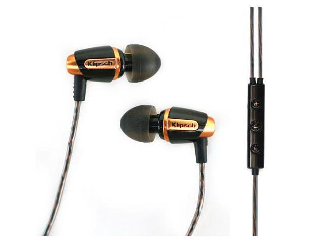 Klipsch Reference S4i Premium In-Ear Noise-Isolating Headphones with Microphone (Black)