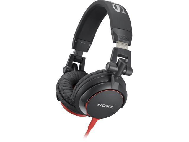 Sony MDR-V55 DJ Style Headphones (Black-Red)