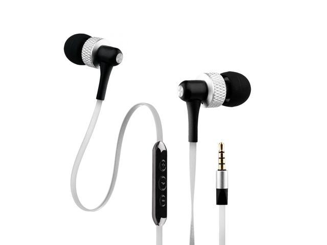 NoiseHush White 3.5mm Handsfree Stereo Headset with Mic and Audio Controls - NX45i-12068
