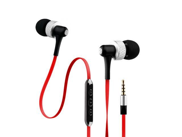 NoiseHush Red 3.5mm Handsfree Stereo Headset with Mic and Audio Controls - NX45i-12067