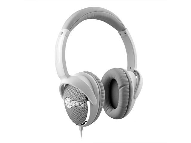 NoiseHush White 3.5mm Stereo Headphone with function MIC for all Apple iPhone/iPad, White - NX28i-12037
