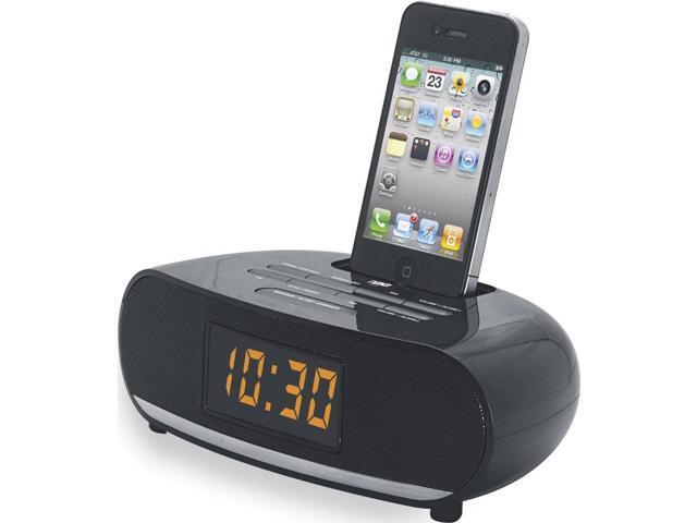 Naxa RBNI-3107 iPhone & iPod PLL Digital Alarm Clock Radio