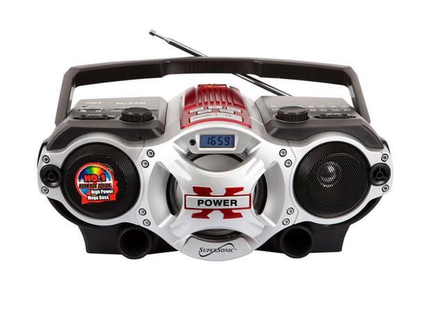 Supersonic SC-1395 Portable MP3 Speaker w/ USB/SD/AUX Inputs, AM/FM Radio & Rechargeable Battery