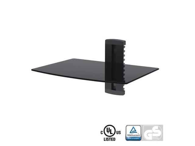 Arrowmounts Aluminum/Tempered Glass DVD Mount Single Deck Black (AM-SHELF1)