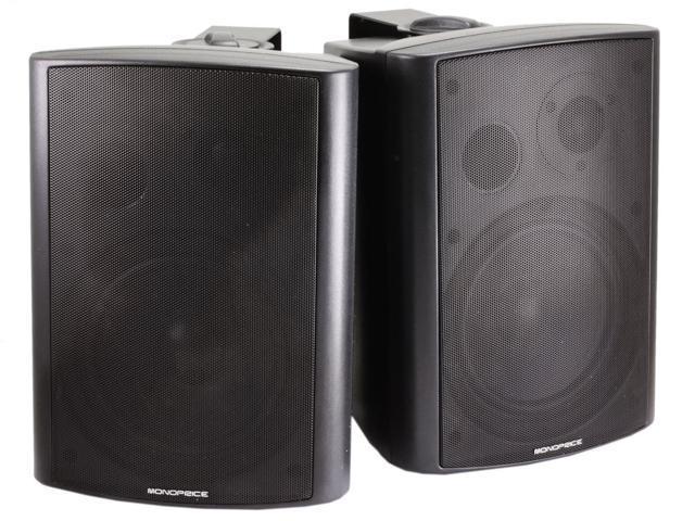 2-Way Active Wall Mount Speakers (Pair) - 25W - Black (7495)