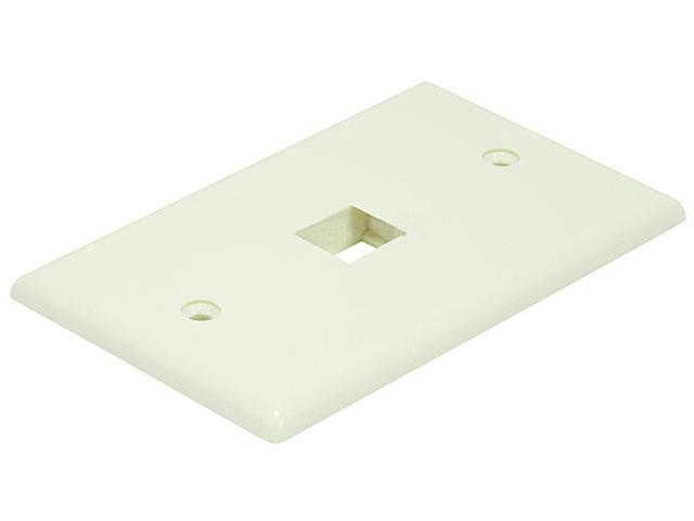 Wall Plate for Keystone, 1 Hole - Ivory (6726)