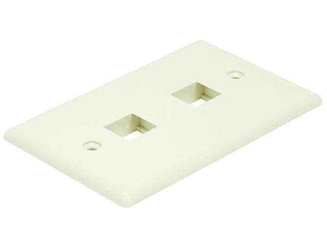 Wall Plate for Keystone, 2 Hole - Ivory (6728)
