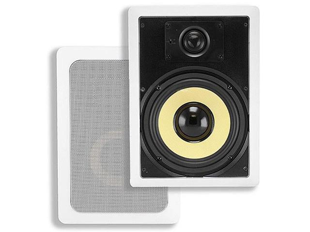 8-inch Kevlar 2-Way In-Wall Speakers (Pair) - 80W Nominal, 120W Max (4101)