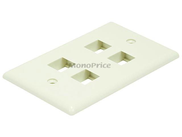 Wall Plate for Keystone, 4 Hole - Ivory (6732)