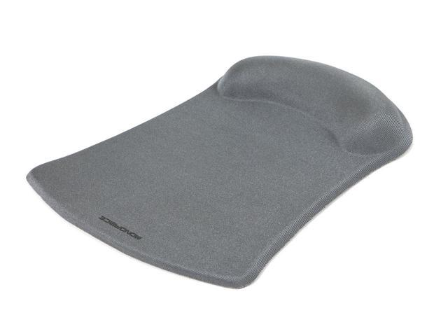 Mouse Pad with Gel Wrist Rest - Silver (8860)