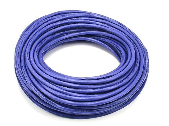 75FT 24AWG Cat6 550MHz UTP Bare Copper Ethernet Network Cable - Purple (5030)