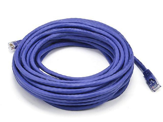 30FT 24AWG Cat6 550MHz UTP Bare Copper Ethernet Network Cable - Purple (5022)