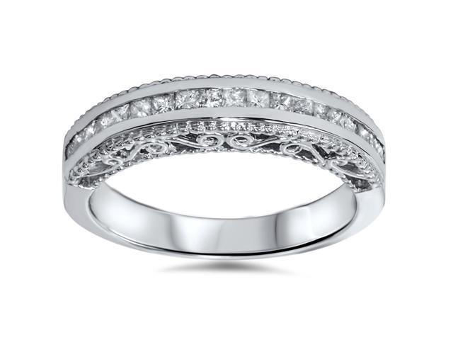 1/2ct Princess Cut Vintage 14K Diamond Anniversary Ring