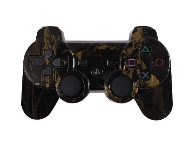 Custom PS3 Controller - Black Gold Marble