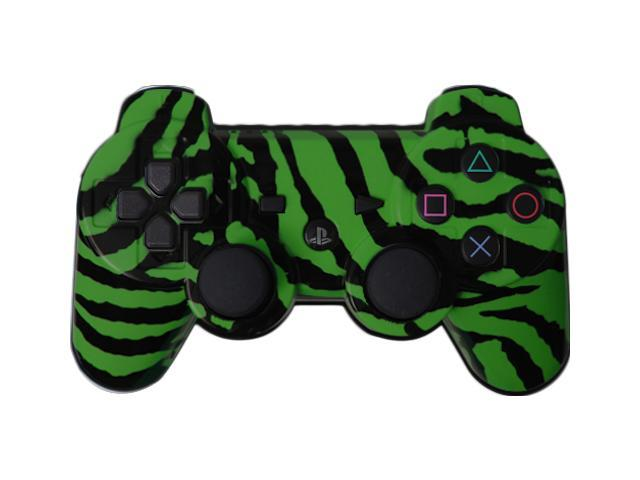 Custom PS3 Controller - PlayStation 3 Green Zebra Controller
