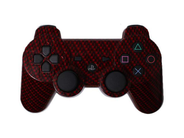 Custom PS3 Controller - Red Black Carbon Fiber PlayStation 3 Controller
