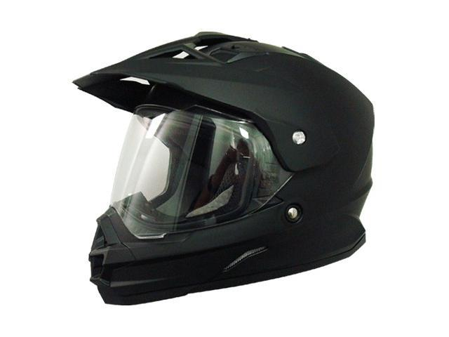 AFX FX-39DS Dual Sport Solid Full-face Helmet Flat Black XS