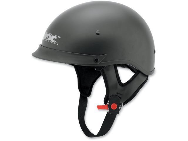 AFX FX-72 Half Helmet Flat Black LG