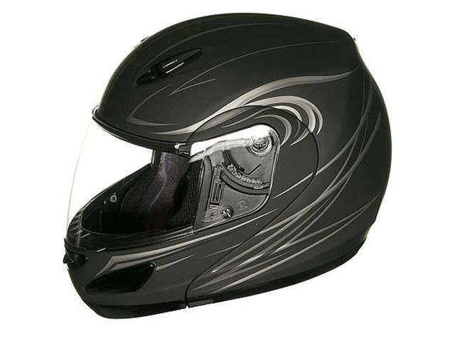 Gmax GM44S Derk Helmet Flat Black SM