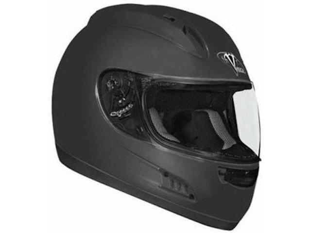 Vega Altura Solid Full Face Helmet Flat Black MD